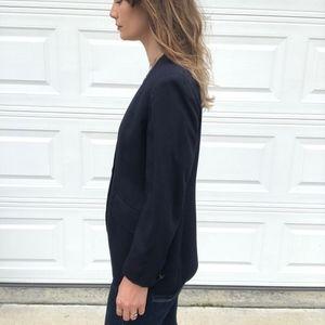 Vintage Jackets & Coats - Vintage Jones NY | Navy Blue One Button Blazer